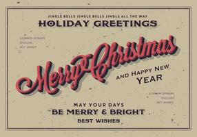 Merry Christmas Holiday Greeting Vector