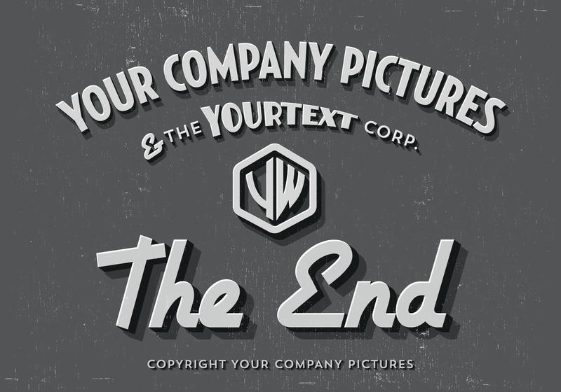 silent film movie ending background - download free vector art, Powerpoint templates