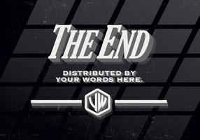 Vintage The End Vector