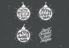 Chalkboard Ornament Collection Vector