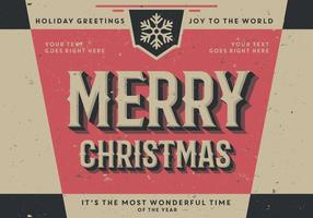 Symmetrical Vintage Holiday Greetings Vector