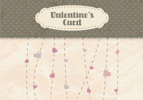 Valentinstag Heartstrings Vektor