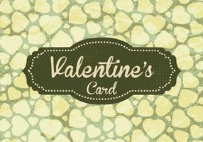 Green Valentine's Card Vector