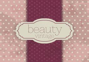 Polka Dot Vintage Beauty Vector