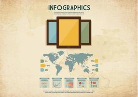 Tablet Infographics Vector