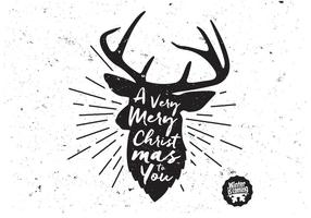 Reindeer-black-and-white-vector