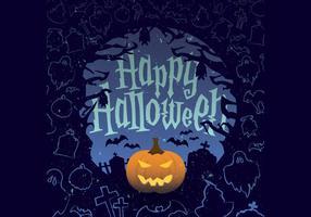Jack-o-lantern halloween vector