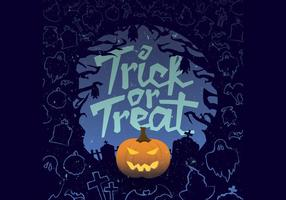 Trick-or-treat jack-o-lantaarnvector