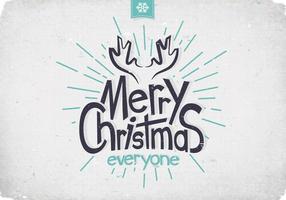Navidad Antlers Vector