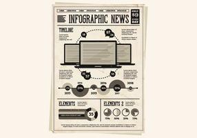 Laptops and Infographics Vector