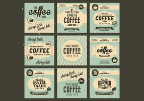1960s Coffee Collection Vector
