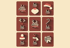 Rustic-christmas-card-collection-vector