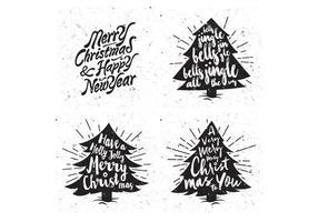 Snowy árboles de Navidad Vector