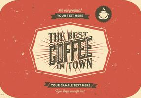 Scratchy Coffee Logo Vector