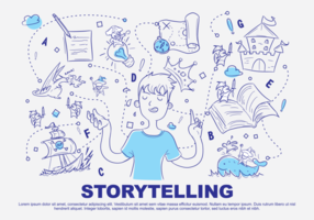 Illustration vectorielle Doodle Storytelling
