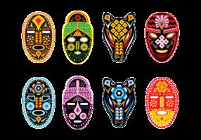 Máscara Huichol Vector