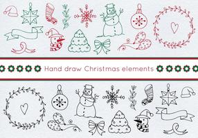 Gratis Vector Christmas Set