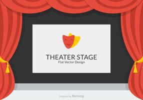 Teater Stage Vector Design