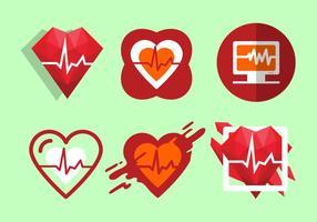 Ilustração vetorial gratuita da frequência cardíaca
