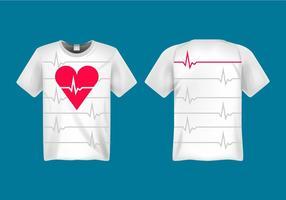 Illustrazione vettoriale di frequenza cardiaca