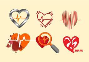Kostenlose Herzfrequenz Vektor-Illustration