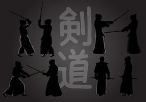 Kendo Action Silhouette