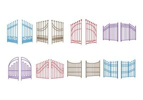 Free Open Gate Vector