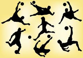 Libre de playa de fútbol iconos vectoriales