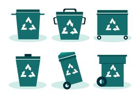 Trash Can Vector Set
