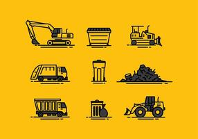 Landfill Icon Line Free Vector