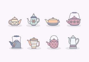 Vecteur de théière gratuit