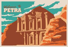 Petra Historical Site vector
