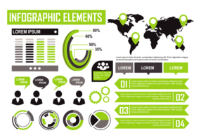 Grön Infographic Elements Vector
