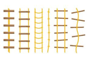 Gratis touw ladder iconen vector