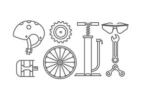 Bicycle gear icons vector