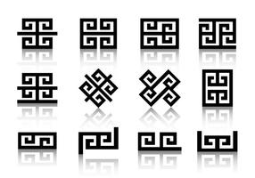 Minimal Geometric Greek Symbols vector