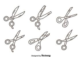 Hand Drawn Scissors Vector Set