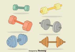 Handdragen Dumbell Vector Set