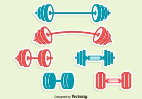 Dumbell Pictogrammen Vector Set
