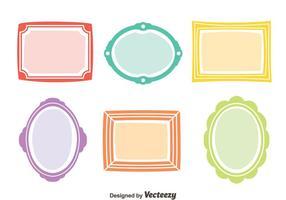 Colorido Marco Vector Set