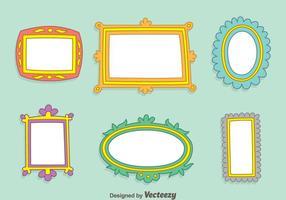 Hand getekende frame vector set