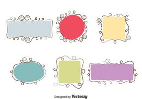 Swirl Frame Vector Set