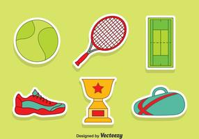Nizza Tennis Element Vektor Set