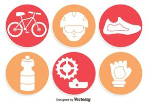 Fahrrad Element Icons Vektor