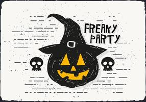 Freaky Halloween pumpa vektor illustration