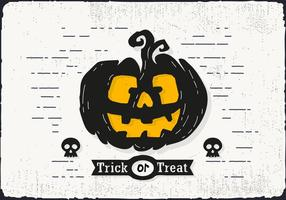 Trick or Treat Halloween Pumpkin Vector Illustration