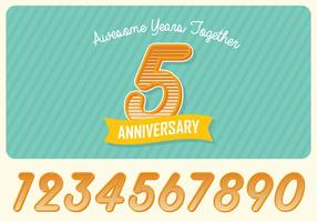 Anniversary Greeting Card vector