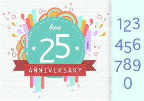 Anniversary Template vector