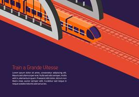 TGV Hintergrund vektor