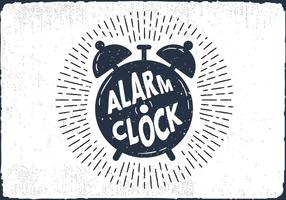Hand Drawn Alarm Clock Background